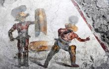 Mural descubierto en sitio arqueológico de Pompeya