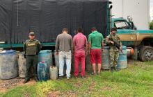Tres personas fueron capturadas en flagrancia.