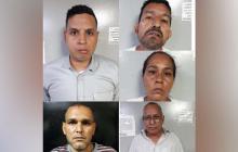 Luis Saul Ibarra Marquez, Raul Enrique Goliat Briaño, Luis Enrique Carreño Yanes, Ana Inocencia Ibarra Marquez y Daniel David Romero Castellanos.