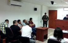 Los capturados ante el Juez Segundo Penal Ambulante de Valledupar.