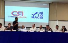 Reunión de los miembros del partido político Cambio Radical.