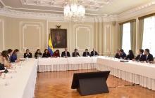 El presidente Duque se reunió ayer con el Consejo Gremial en el Palacio de Nariño.