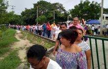 Masiva asistencia de votantes en Sincelejo.