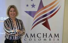 La directora de AmCham Barranquilla, Vicky Ibáñez.
