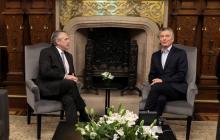El presidente electo de Argentina, Alberto Fernández, se reunió con el primer mandatario Mauricio Macri.