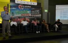 El vicepresidente de comercio exterior de Fenalco, Eduardo Visbal, en rueda de prensa.
