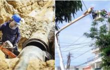 Cinco circuitos en Barranquilla quedarán sin luz y 20 sectores sin agua este miércoles