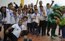 Equipo de estudiantes barranquilleros gana nacional de robótica en Medellín