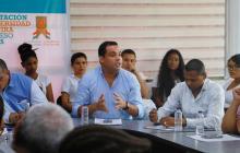 Miembros del Consejo Superior y el gobernador electo de La Guajira  Nemesio Roys Garzón.