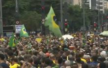 En video | Miles de personas protestan en Sao Paulo contra la liberación de Lula
