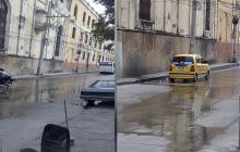Aguas servidas invaden las  calles aledañas a la Iglesia San José