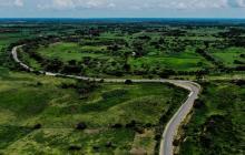Vista aérea de  uno de los tramos que comprende la Transversal del Sur.