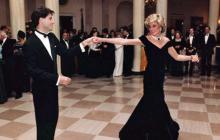 Subastan traje que usó Diana de Gales en baile con Travolta