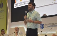 Jaime Pumarejo durante su intervención en el congreso de la CCI.