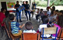 En video | Los hijos de la paz en Colombia que aprenden sobre desminado de campos