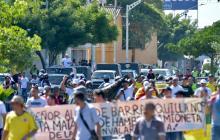 Conductores protestan por la Avenida Murillo