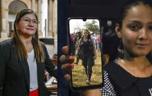 Sandra Ramírez y Alexandra Fontecha, senadora y guardaespaldas.