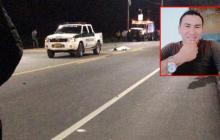 Patrullero de la Policía muere arrollado por un vehículo