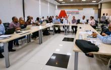 Aspecto de la sesión conjunta del Consejo Superior y Consejo Académico de la Universidad del Atlántico.
