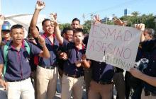 En video   Estudiantes del Sena bloquean la calle 30 en protesta por muerte de Dilan Cruz