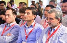 Los superintendentes Andrés Barreto, Jorge Castaño y Juan Pablo Liévano.