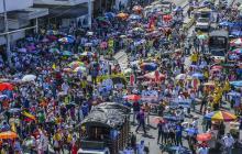 En Barranquilla, pocos marcharon en nueva jornada de paro nacional