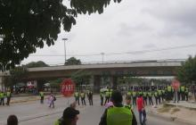 Transmetro reactiva rutas en la troncal Murillo tras manifestaciones