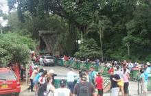 Ingreso de turistas al Parque Tayrona.