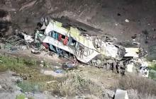 Al menos 17 muertos tras volcar un bus en el norte de Chile