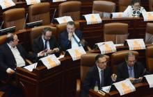 Aspecto del debate de reforma tributaria.