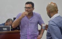 Dagoberto Barraza, durante un receso en la audiencia.