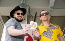 Emanuel Gamarra y Jairo Macías, dos de los integrantes de Los Crankers, en su visita a EL HERALDO.