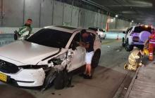 Jarlan Barrera sale ileso de un nuevo accidente de tránsito en Antioquia