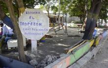 Parque 'El Tropezón' lleva cuatro años dañado, denuncian vecinos