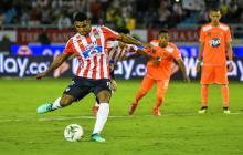 Luis Narváez se convirtió en el último tiempo en el cobrador de los penaltis de Junior.