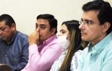 Pedro Sierra, Jesús Pantoja, Cindy Solar y Ramsés Vargas Lamadrid durante una de las audiencias.