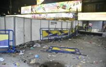Así quedaron los alrededores de La Troja luego de los enfrentamientos.