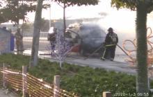 Se incendió ambulancia que llevaba un paciente a la clínica