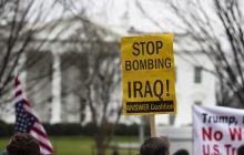 Manifestantes en Washington reprochan el accionar de EEUU tras el ataque donde resultó muerto el general iraní Qasem Soleimani.