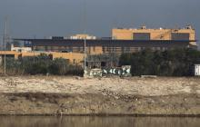 Embajada de EE.UU.en la Zona verde de Bagdad.