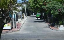 Sector del barrio Carrizal donde se registró el ataque.