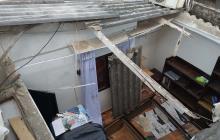 Brisas afectan casa y parqueadero en Soledad y Barranquilla