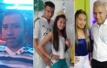 La víctima, Liseth Lucía Palencia Barreto, y su pareja sentimental, José Luis Díaz Barreto.
