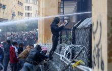Cerca de 400 heridos en Líbano en choques el sábado entre manifestantes y policía