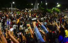 Cacerolazo realizado el año pasado en Barranquilla.