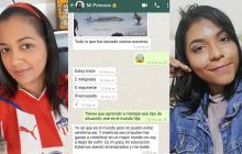 Karen Villa publicó algunos chats que tuvo con Madelayne antes de su muerte el 18 de diciembre de 2019.