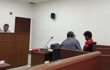Carlos Julio Borrero Carranza, durante las audiencias preliminares en el Centro de Servicios Judiciales de Barranquilla.