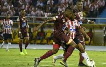 Imagen del debut de Junior en la Liga Águila 2019-II, ante Tolima.