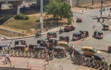 En video | Caos en Hipódromo por motocarros sin control