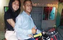 Roselberth Torres Tejeda y  Macielle Vanesa Cudris Muñoz, fallecidos en accidente de tránsito.